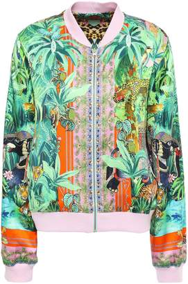 Camilla Benny's Blessing Crystal-embellished Silk-satin Bomber Jacket