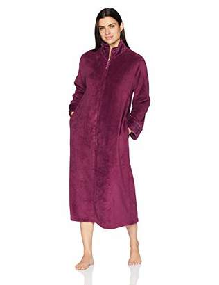 Arabella Women's Plush Long Zip Robe