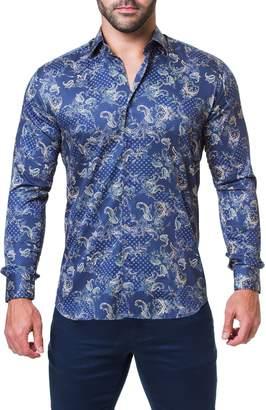 Maceoo Fibonacci Victorian Paisley Regular Fit Sport Shirt