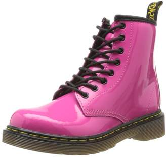 Dr. Martens Air Wair Delaney Youth Girls 2 Pink Patent Leather Casual Boots