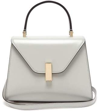 Valextra Iside Mini Leather Bag - Womens - Light Grey