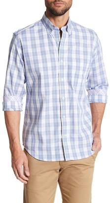 Tailorbyrd Long Sleeve Plaid Woven Button Shirt