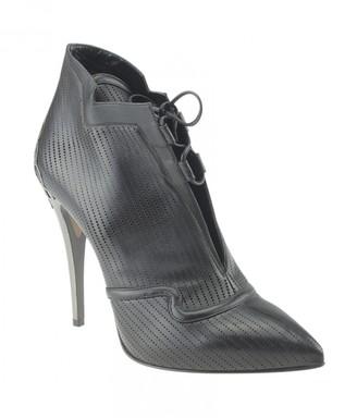 Fendi Black Leather Ankle boots