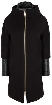 Herno Black High-neck Wool