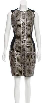 Talbot Runhof Sequined Sleeveless Dress
