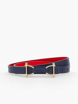 Talbots Reversible Leather Tab Belt