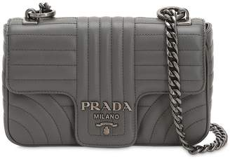 Prada Small Quilted Soft Leather Shoulder Bag