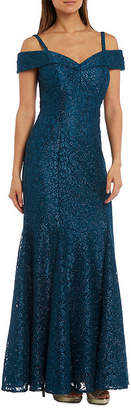 R & M Richards R&M Richards Long Lace Evening Gown