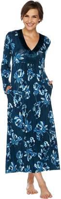 Carole Hochman Midnight Fleur Rayon Spandex Long Gown