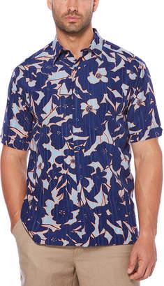 Cubavera Graphic Floral Print Shirt
