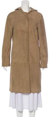 Max Mara 'S Hooded Suede Coat