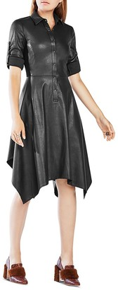 BCBGMAXAZRIA Beatryce Faux Leather Dress $298 thestylecure.com