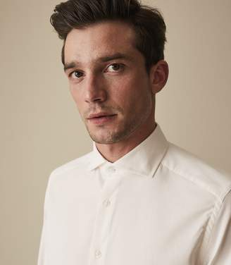 Reiss Our last order date for Christmas has now passed MANNING CORDUROY SHIRT Ecru