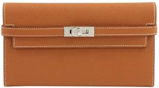 Hermes Kelly Brown Leather Wallets