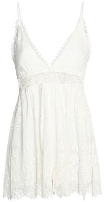 Zimmermann Curacao Broderie Anglaise Silk-georgette Playsuit