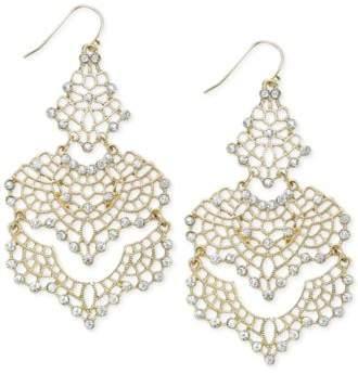 INC International Concepts I.N.C. Crystal Lace Chandelier Earrings