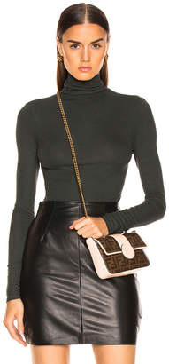 Enza Costa Rib Fitted Long Sleeve Turtleneck
