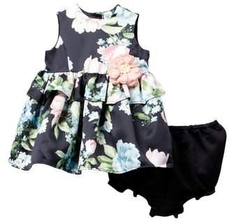 Laura Ashley Sleeveless Floral Print Dress (Baby Girls 0-9M)
