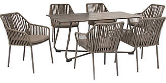 Kettler Manhattan 6 Seater 'Twist' Garden Table and Chairs Set, Taupe