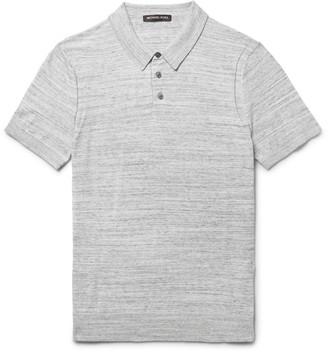 Mélange Cotton-Jersey Polo Shirt