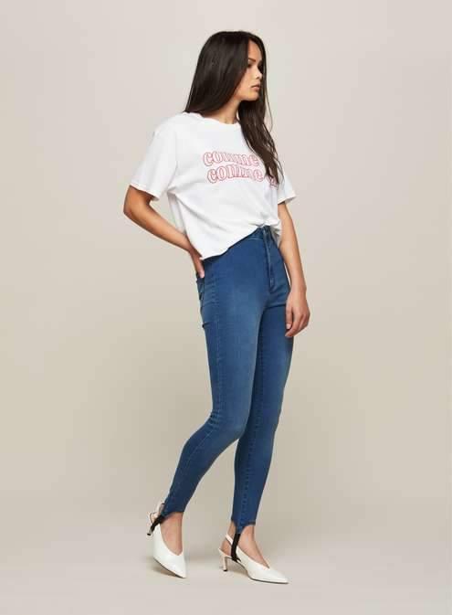 Steffi blue super high waist stirup jeggings