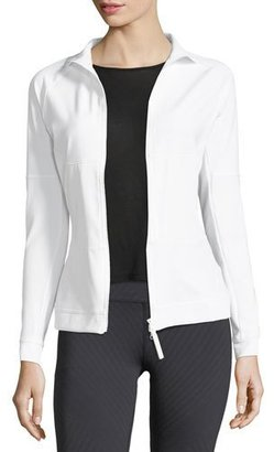 adidas by Stella McCartney The Mid-Layer Zip-Front Mix-Knit Performance Jacket $120 thestylecure.com