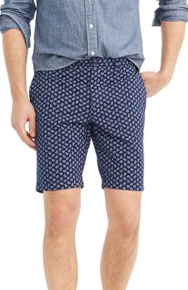 J.Crew J. CREW Paisley Stretch Cotton Shorts