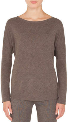 Akris Punto Round-Neck Long-Sleeve Oversized Cashmere-Blend Sweater