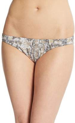 OndadeMar Women's Golden Cobra Embellished String Bikini Bottom