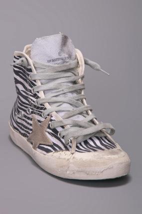 Golden Goose Francy High Top Sneaker Zebra