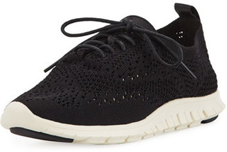Cole Haan Zerogrand Knit Wing-Tip Trainer, Black $150 thestylecure.com