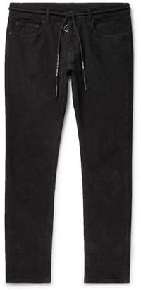 Off-White Off White Slim-Fit Stretch Cotton-Corduroy Trousers