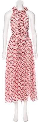 Thomas Wylde Silk Halter Dress