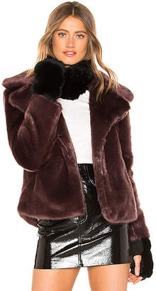 Jocelyn Dyed Rex Rabbit Fur Cowl and Mitten Set