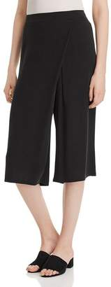 Eileen Fisher Silk Faux-Wrap Gaucho Pants