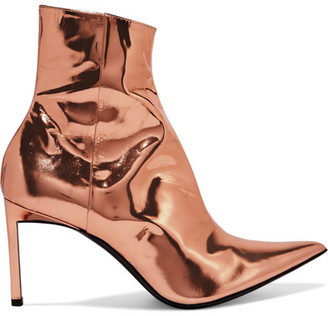 Haider Ackermann - Metallic Leather Ankle Boots - Copper $1,100 thestylecure.com