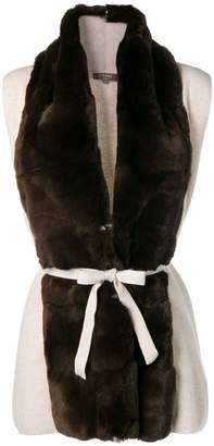 N.Peal fur placket gilet