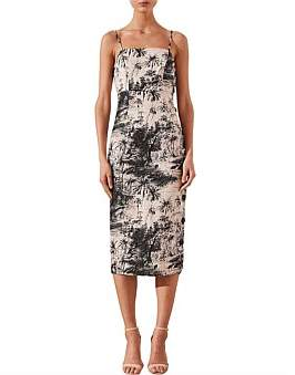 Shona Joy Fitted Midi Dress
