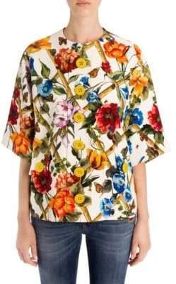 Dolce & Gabbana Floral Bamboo Print Jacket