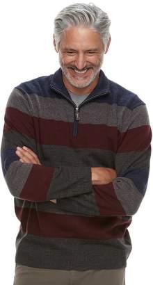Haggar Men's Classic-Fit Fine-Gauge Quarter-Zip Sweater