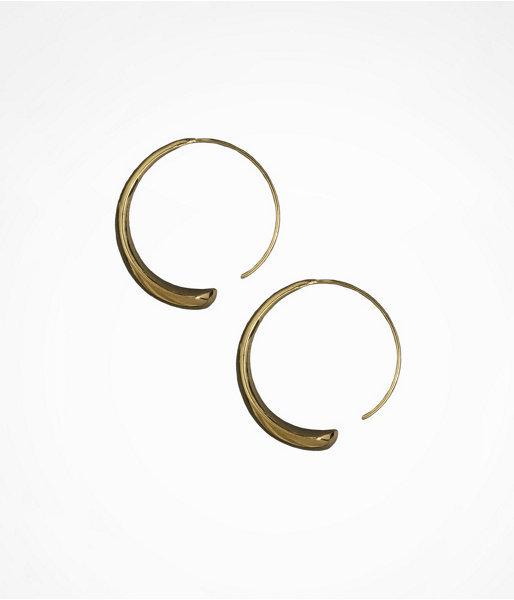 Sculpted Metal Hoop Earrings