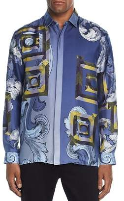 Versace Printed Silk Regular Fit Shirt