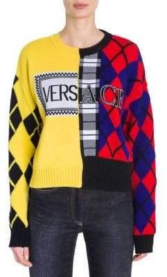 Versace Mix Tartan Logo Sweater