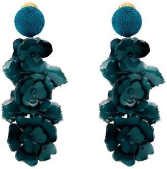 Oscar de la Renta Flower Cluster clip-on earrings