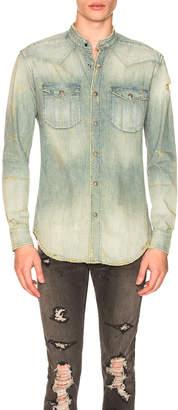 Balmain Destroyed Vintage Long Sleeve Shirt