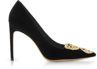 Sophia Webster Black Suede Bibi Butterfly Rivera Pump