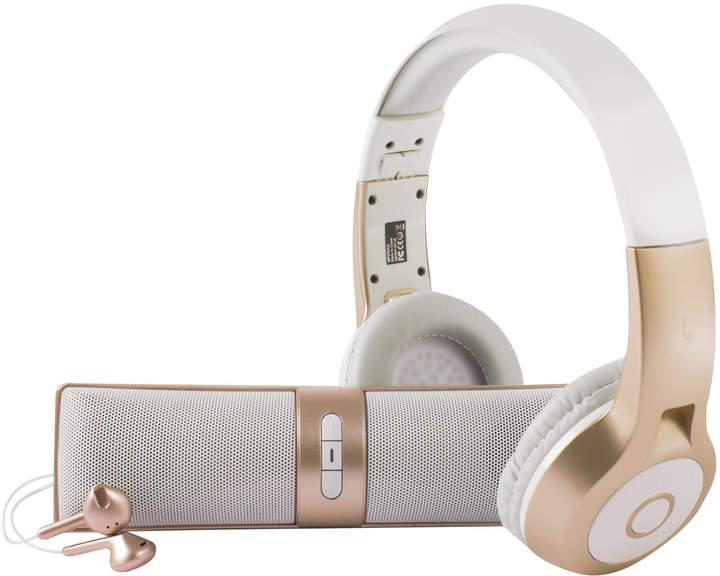Vivitar Metallic Gold 'Listen Up' Bluetooth Audio Kit