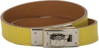 One Kings Lane Vintage HermAs Lime Double Kelly Bracelet - Vintage Lux