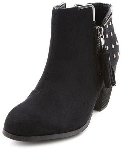 Charlotte Russe Studded Side-Zip Ankle Bootie