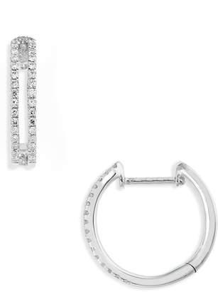 Bony Levy Geo Diamond Hoop Earrings
